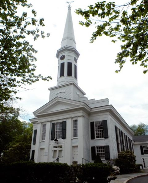 steeple in New Canaan, CT