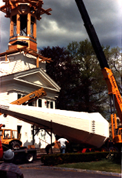 Steeple going up