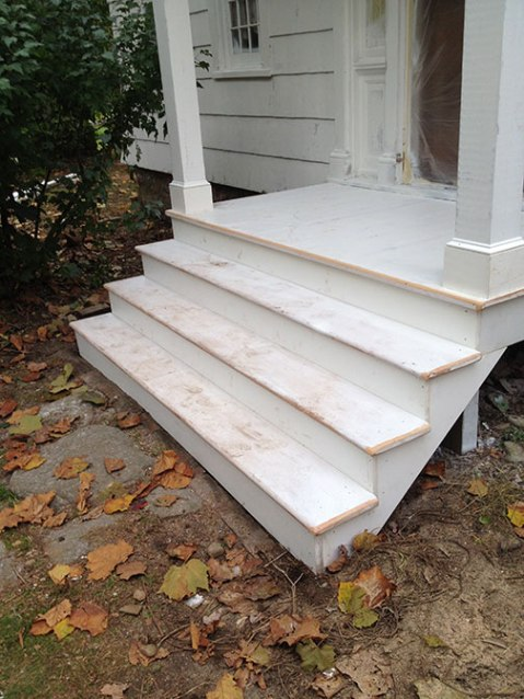 Completed stairs.