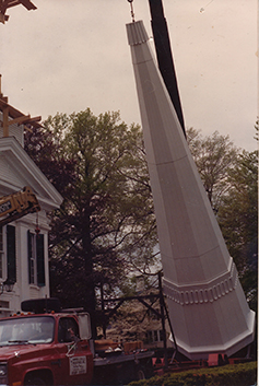 lifting new steeple