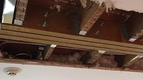 Darien renovation, notice the bolts