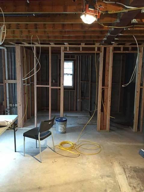 Darien renovation cellar