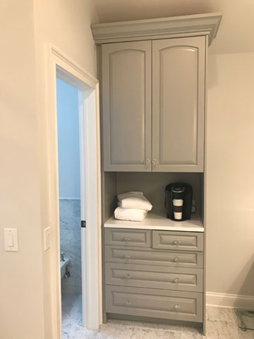 Master Bath cabinet, current